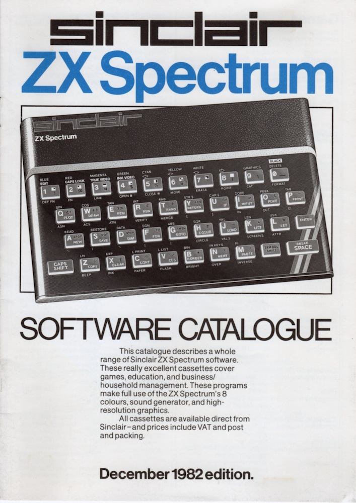 ZX Spectrum Software Catalogue September 1982