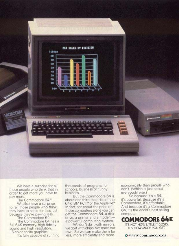Commodore 64 Advert