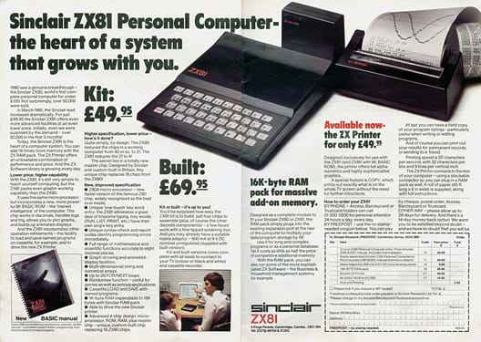 ZX81 and ZX Printer Advert