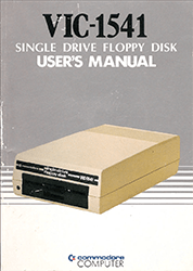 Commodore 1541 Floppy Disk Drive Users Manual
