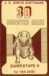 3D Monster Maze Front Cover